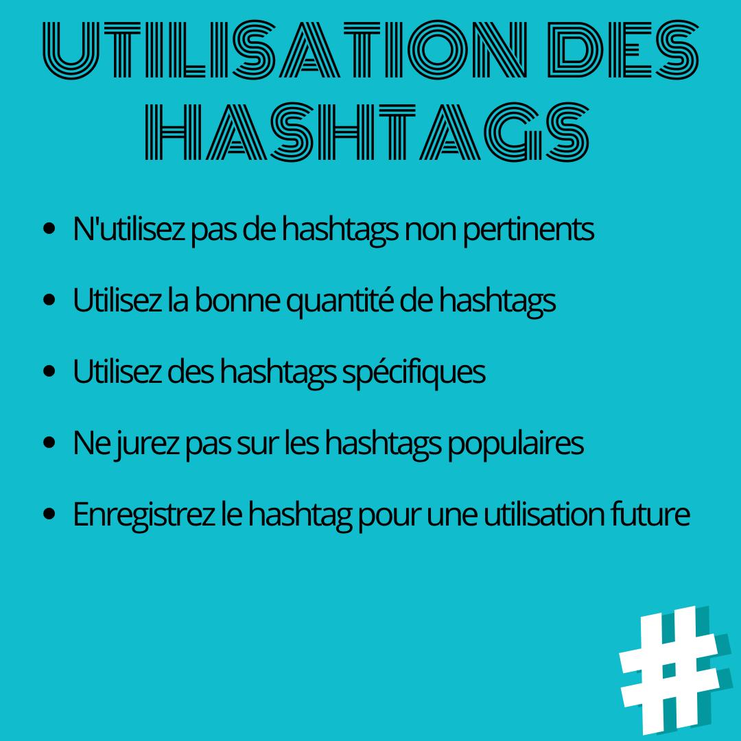 Utilisation des hashtags