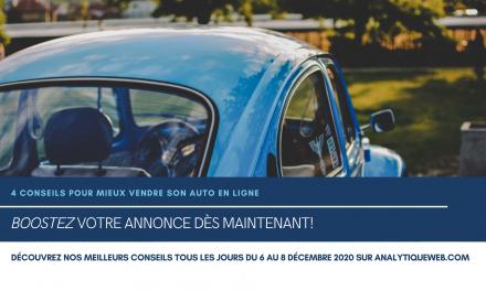 4 CONSEILS POUR MIEUX VENDRE SON AUTO en ligne